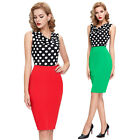 SUMMER CHEAP Vintage Dress 1950s Vintage Style Work Wiggle Pinup Pencil New PLUS