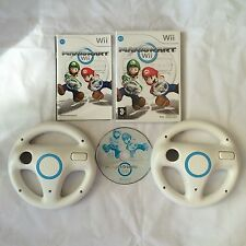 Mario Kart With 2 OFFICIAL Wii Steering Wheels Nintendo Wii PAL COMPLETE