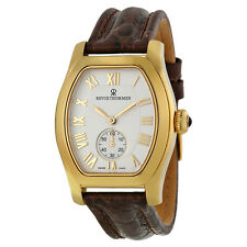 Revue Thommen Specialties Automatic Silver Dial Brown Leather Mens Watch