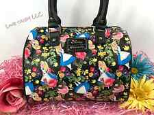 DISNEY ALICE WONDERLAND FLORAL ROSE CROSSBODY BAG FAUX LEATHER LOUNGEFLY NEW! ��