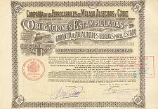 Co. de los Ferrocarriles de Malaga, Algeciras y Cadiz, obligacion, Madrid, 1920
