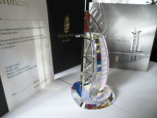 SWAROVSKI CRYSTAL 2008 COLOURED MINIATURE BURJ AL ARAB HOTEL  LIMITED TO 500