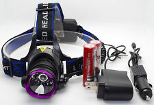 8000LM T6 LED Rechargeable Headlight Headlamp Flashlight + 2x 18650 + Charger OY