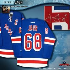 JAROMIR JAGR Signed New York Rangers Blue Reebok Jersey - Florida Panthers