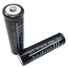 2X 18650 6000mAh 3.7V Li-ion Rechargeable Battery for Ultrafire Flashlight Torch