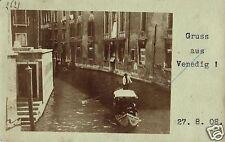 18633/ Foto AK, Gruss aus Venedig, Gondoliere, 1908