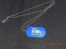 RIVERSIDE COUNTY NATIONAL DATE FESTIVAL FAIR 2014 DOG TAG BLUE FREE SHIPPING