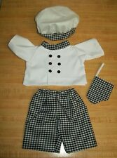"""16-18"""" CPK Cabbage Patch Kids CHEF COOK OUTFIT JACKET PANTS TOQUE OVEN MITT"""