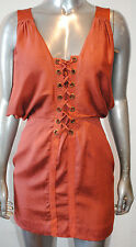 $198 NWT AFFLICTION BLACK PREMIUM womens COBRA corset style DRESS red sand *4