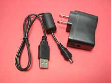 AC Wall Battery Charger IN Camera + USB PC Cable Cord For Olympus VR-320 VR320
