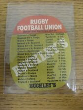 1974/1975 Rugby Union: Buckley Beer Mat - 'Make It A B-Line For A BUCKLEY'S', On