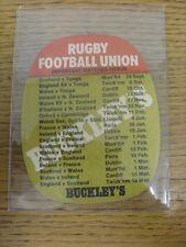 """1974/1975 Rugby: Buckley Sottobicchiere - """"lo rendono una B-LINE per un Buckley's"""", su"""