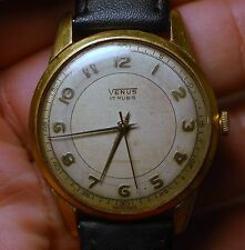 Vintage VENUS swiss made watch 17 jewels FELSA 465 working condition SERVICED