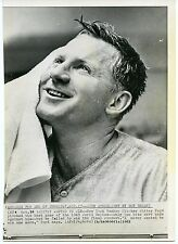 Whitey Ford New York Yankee after wining world series game 1963 wire photo