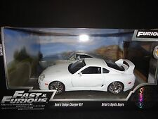 Jada Toyota Supra 1995 & Dodge Charger Raw Metal Fast & Furious 2 Car Set 1/24