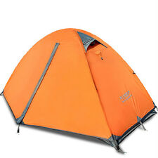 Camping/Outdoor 1-2 Person Double-layer Waterproof Camping  Aluminum Tent 3color
