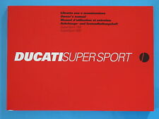 DUCATI 750/900 SUPERSPORT -INJECTION MODELS ONLY  GENUINE FACTORY HANDBOOK