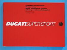 DUCATI 800/1100 SUPERSPORT   GENUINE FACTORY HANDBOOK /04