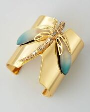 Alexis Bittar Neo Bohemian Gold Large Pave Ombre Dragonfly Cuff