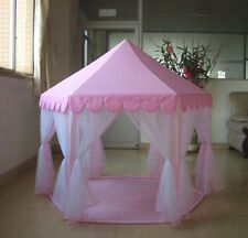NEW CHILD'S PRINCESS/CASTLE PLAY TENT KID'S PINK GIRL WITH CARY BAG SHIP FROM US