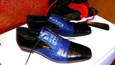 Brand New Men's 100% leather shoes ZILLI . Blue + leather zilli travel bag. #4