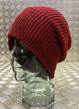 Dark Red / Maroon Knitted Beanie Hat / Watch Cap / Woolly Hat - One size - NEW