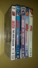 Dexter complete seasons 1 2 3 4 5 dvds