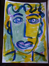 ROYSTON DU MAURIER-LEBEK ORIGINAL PORTRAIT SIGNED ACRYLIC PAINTING ON  PAPER (L
