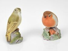 Royal Worcester China Robin (2128) y Madera arañero (3200) Bird cifras