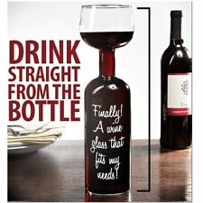Ultimate Wine Bottle Glass Great Funny Gift Wine Lovers Fun Drink Cup Large Hold
