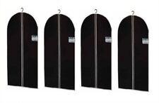 4x Kleidersack Kleiderhülle Schutzhülle Kleider Hülle in Schwarz 100 x 60 cm NEU