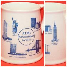 Vintage 1974 ACBL Mug World Trade Center Empire State Building Twin Towers UN