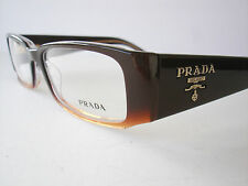 New Prada Eyeglasses VPR 22M Brown ZXB--1O1 Authentic 53-16-135