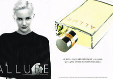 PUBLICITE ADVERTISING 014   1997   CHANEL   pafum ALLURE  ( 2 pages)