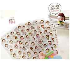 #01 cute momoi girl cartoon pvc stickers notebook diary decoration 6 sheets