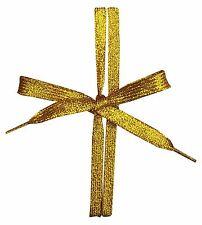 CHEX Laces Flat Shoe Boot Trainer 110cm Long 1cm Pair Metallic Plain Glitter