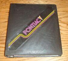 Original 1983 Pontiac Dealer Product Manual Album Color Trim 83 Firebird