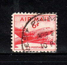 #C39  6 CENT  DC-4 SKYMASTER  AIR MAIL  FANCY CANCEL   USED  b