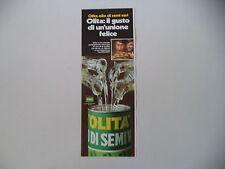 advertising Pubblicità 1971 OLIO DI SEMI OLITA STAR