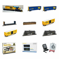 Premium Ontario Northland ONR Train Set  - Modern Scheme SD40-2 Bowser Loco DCC
