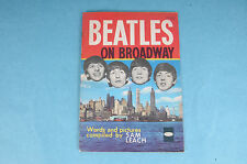"VINTAGE WHITMAN 1964 THE BEATLES ""ON BROADWAY"" SOUVENIR BOOK MAGAZINE"