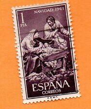 Sello usado de navidad año 1961 (número 1400)