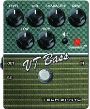 Tech 21 Vt Bass V2 Preamp-Pedal für Bass Gitarre - Ampeg SVT & B15 Sounds