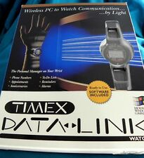 VINTAGE TIMEX MICROSOFT MENS DATA LINK 100 WATCH NEW IN ORIGINAL BOX W/ SOFTWARE