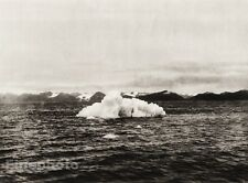 1924 Vintage SCANDINAVIA Photo Art Norway Spitsbergen Iceberg Seascape Landscape
