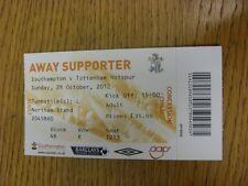 28/10/2012 BIGLIETTO: Southampton V Tottenham Hotspur. grazie per la visualizzazione di questa IT