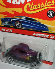 Hot Wheels Classics - 1934 FORD 3-WINDOW  - purple/flames - 1:64