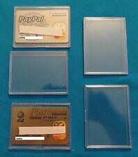 25 COLLECTOR SAFE CREDIT / CHARGE CARD SNAP HOLDERS CASE NEW! HARD PLASTIC CASES