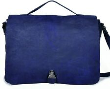 Grand sac cuir Nat et Nin Marion cartable bleu