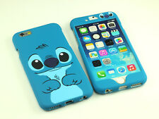 """for Apple iPhone 6S 4.7"""" Disney Stitch Dual Back + Front Case cover Defender"""